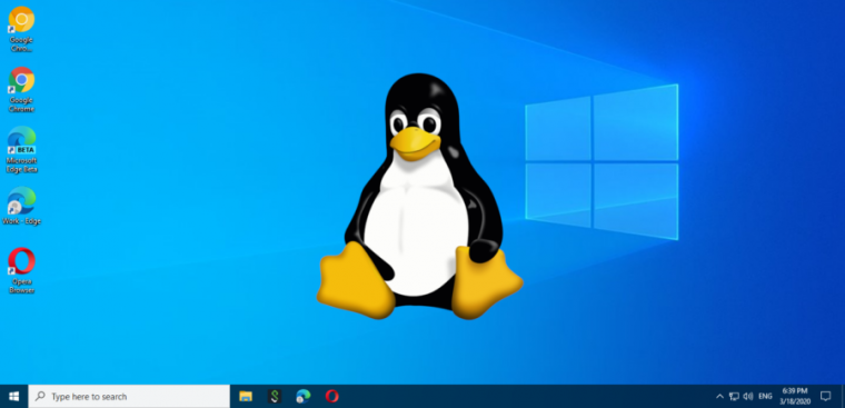 linux logo on windows
